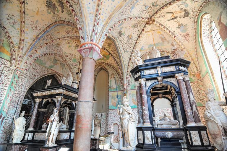 Interior of Roskilde Cathedral, Copenhagen.