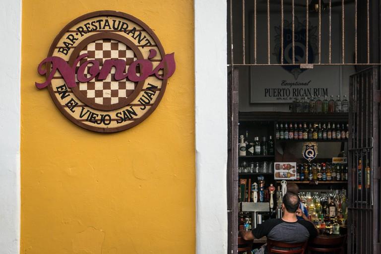 Nono's bar in Old San Juan (Puerto Rico)