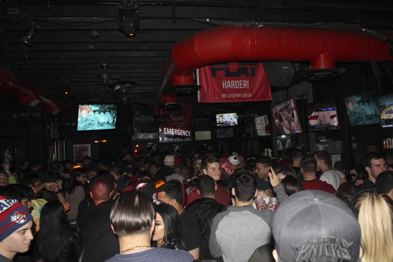 Play Sports Bar is especially popular with fans of the New York Rangers ice hockey team