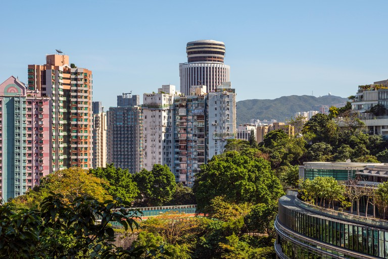 View towards Wan Chai and Hopewell from Bowen Road, Hong Kong