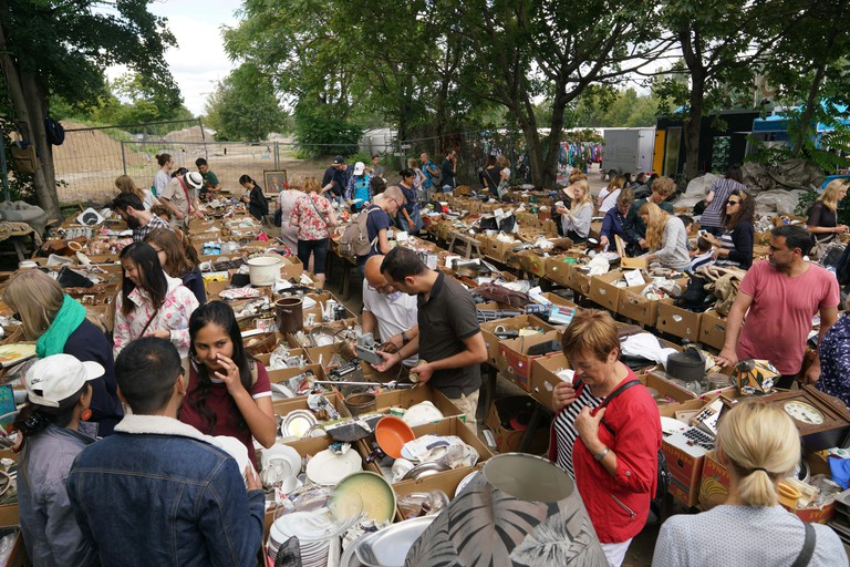 Mauerpark flea market in Prenzlauer Berg is a treasure trove for antique hunters