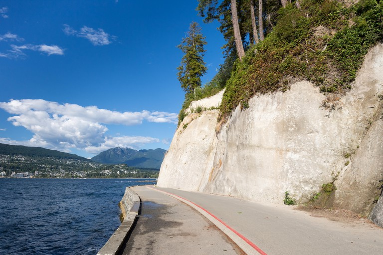 The Vancouver Seawall is great for walking, jogging and cycling