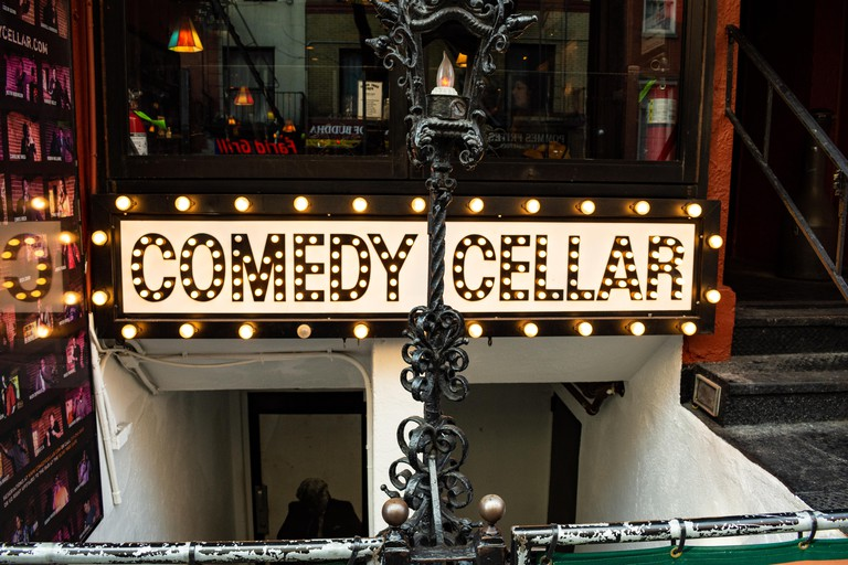 Famous comedy club in Greenwich Village on MacDougal Street, Manhattan