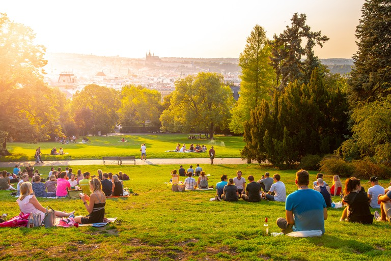 Riegrovy Sady offers incredible views of Prague