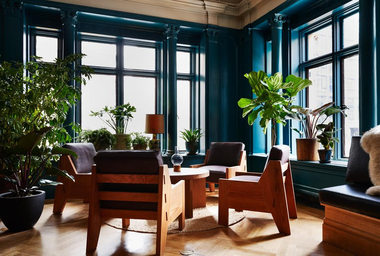 Studio (dining room) at Freehand Hotel, New York, USA.