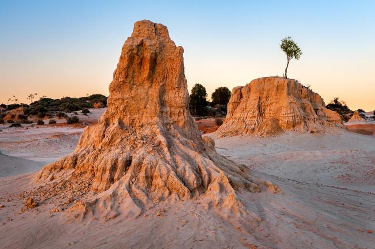Sandformation in Mungo National Park.