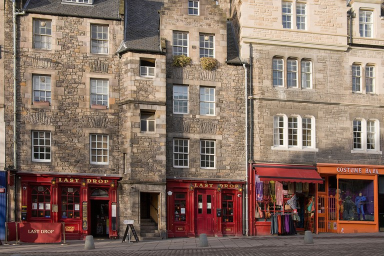 The Last Drop pub in Grassmarket, Edinburgh.
