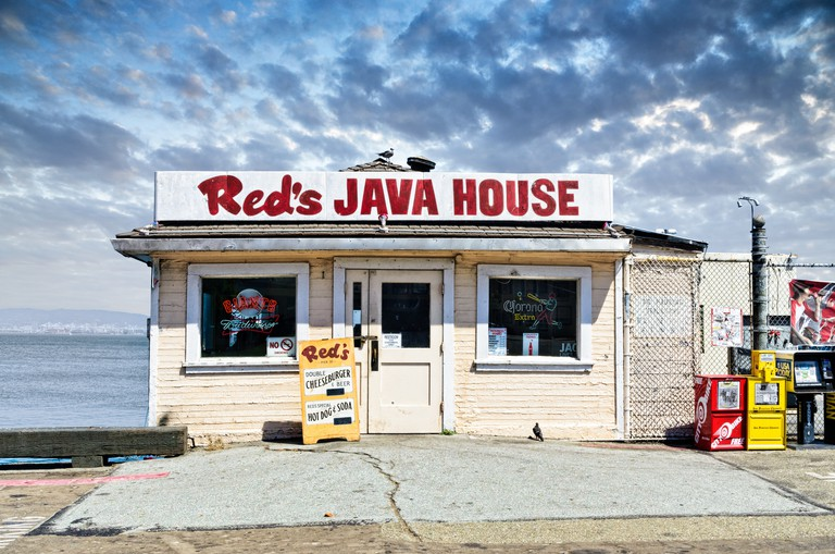 Red's Java House, a local attraction in San Francisco, California, USA.