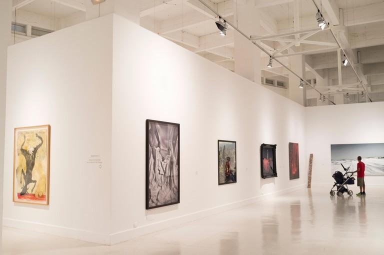 Malaga, Spain. CAC (Centro de Arte Contemporaneo) museum. Paintings by Miquel Barcelo and Santiago Ydanez
