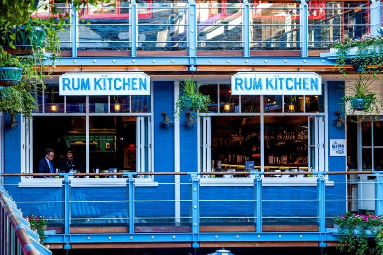 The Rum Kitchen Caribbean Restaurant, Kingly Court, Carnaby Street, London, UK