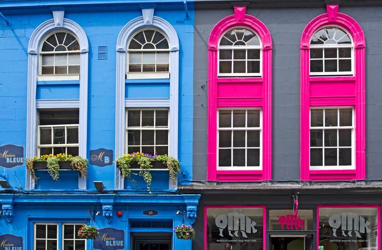 Exterior of Oink on Victoria Street, Edinburgh Old Town. Oink has three locations in Edinburgh
