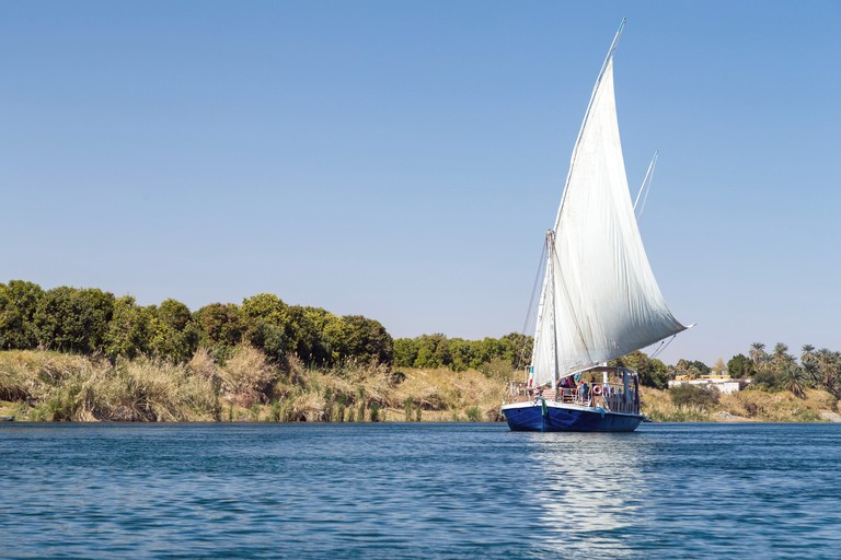 The felucca is the Nile's traditional wooden sailboat