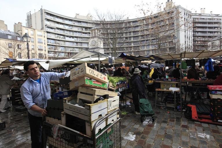 Marche d'Aligre (Aligre Market).Paris.France