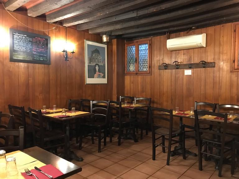 Interior of Enoteca Al Volto