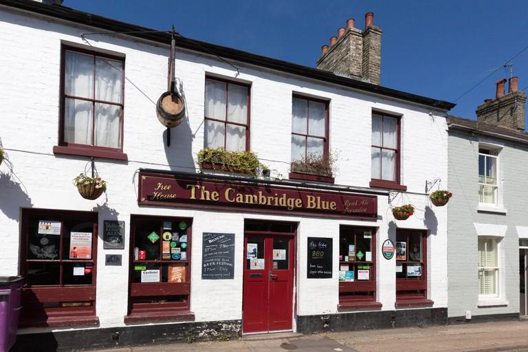 The Cambridge Blue pub, Gwydir Street, Cambridge England UK
