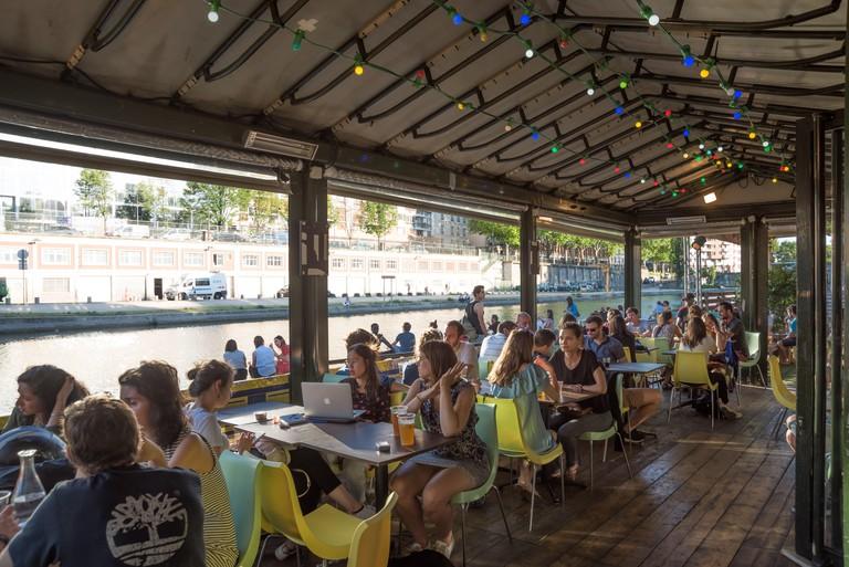 Paris, Canal St Martin, Club Point Ephemere (200 Quai de Valmy, 75010 Paris)