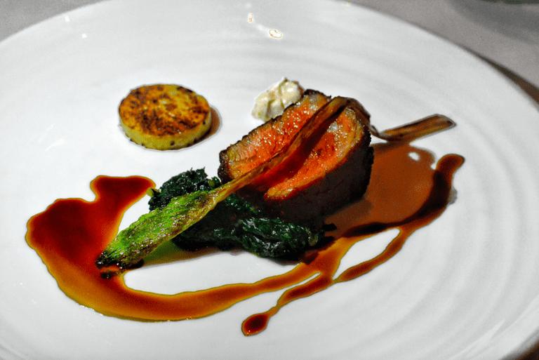 Arcane offers modern European cuisine like the pan-roasted wagyu sirloin