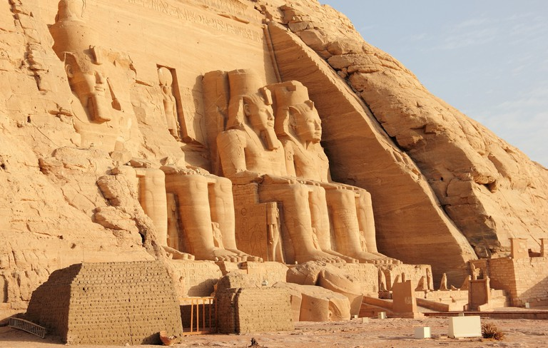 The temples of Abu Simbel were moved to higher ground in the 1960s