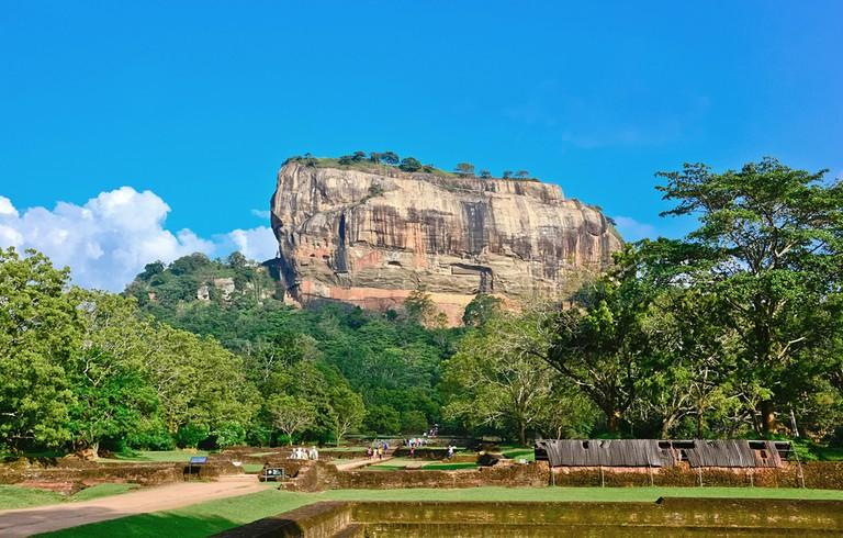Sigiriya Rock is more than 180 metres high