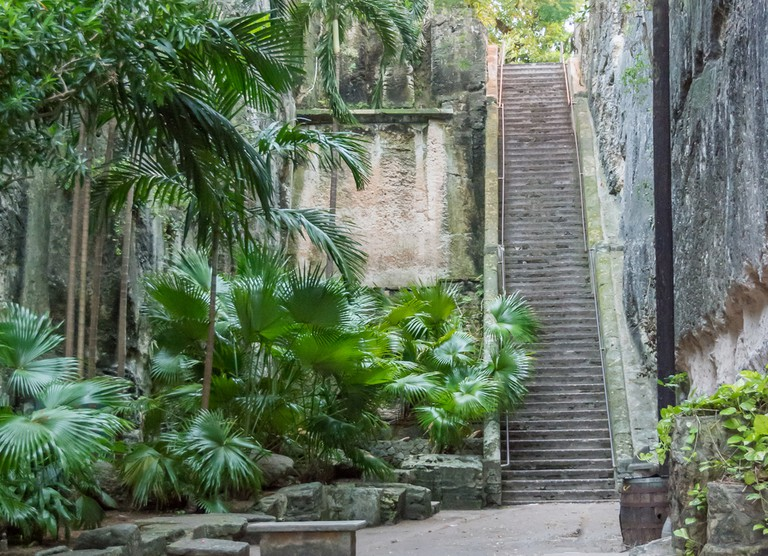 The Queen's Staircase in Nassau, Bahamas.