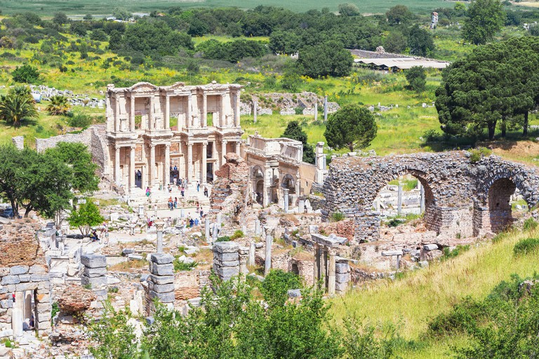 Library of Celsus, elevated view, Ephesus, Turkey