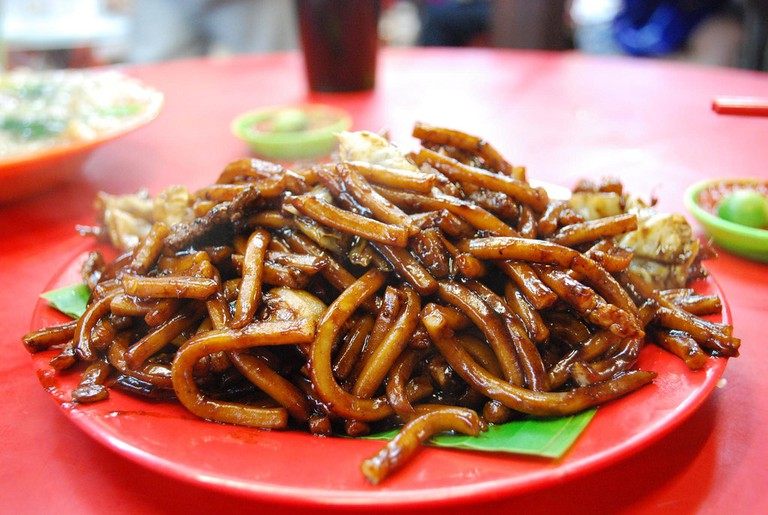 Hokkien Noodles served on a plate