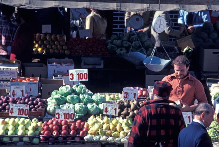 Vegetable Market at Boston Haymarket.