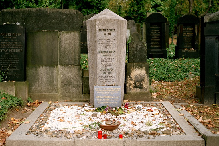 World Travel. Franz Kafka grave in New Jewish Cemetery in ancient city of Prague in the Czech Republic in Eastern Europe. Culture History Wanderlust. Image shot 10/2009. Exact date unknown.