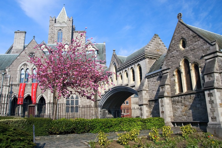 11th century Gothic style Christ Church Cathedral (Cathedral of the Holy Trinity) in Dublin, Ireland.