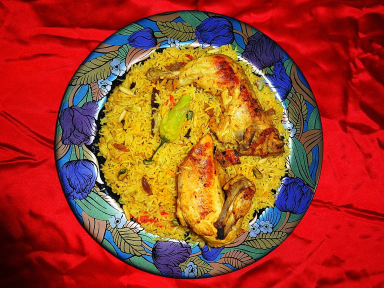 Middle Eastern Chicken Mandi rice
