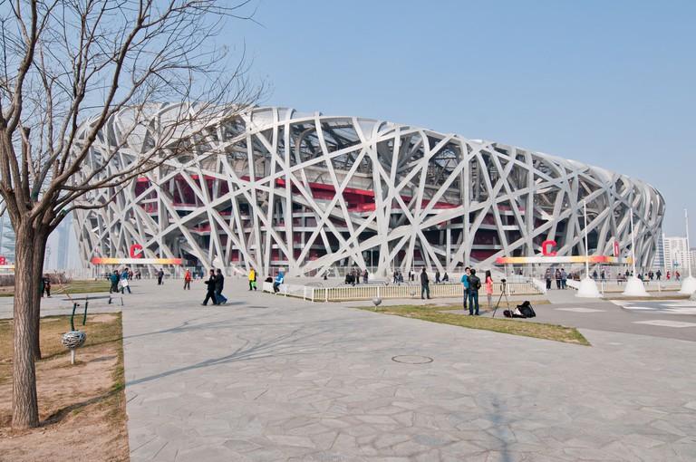 Beijing National Stadium, also known as the Bird's Nest