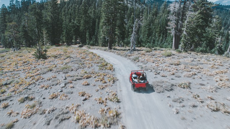 Off-road driving outside Reno Tahoe