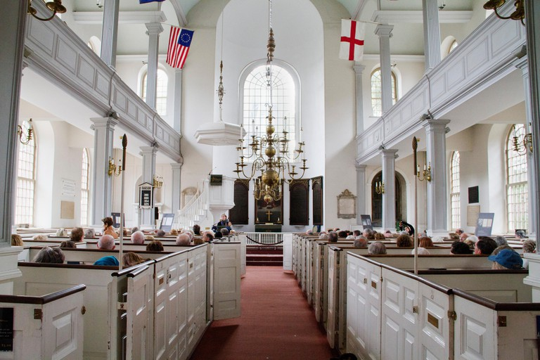 Interior of the Old North Church built in 1723.Boston ,Massachusetts