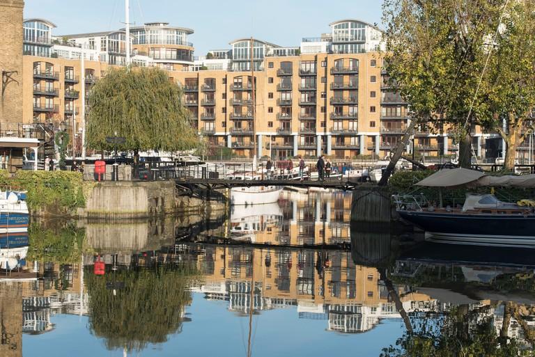 St. Katharine Docks, London.