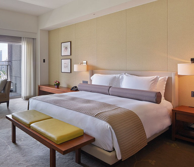 French refinement and Japanese minimalism merge in the elegant rooms at the Palace Hotel Tokyo