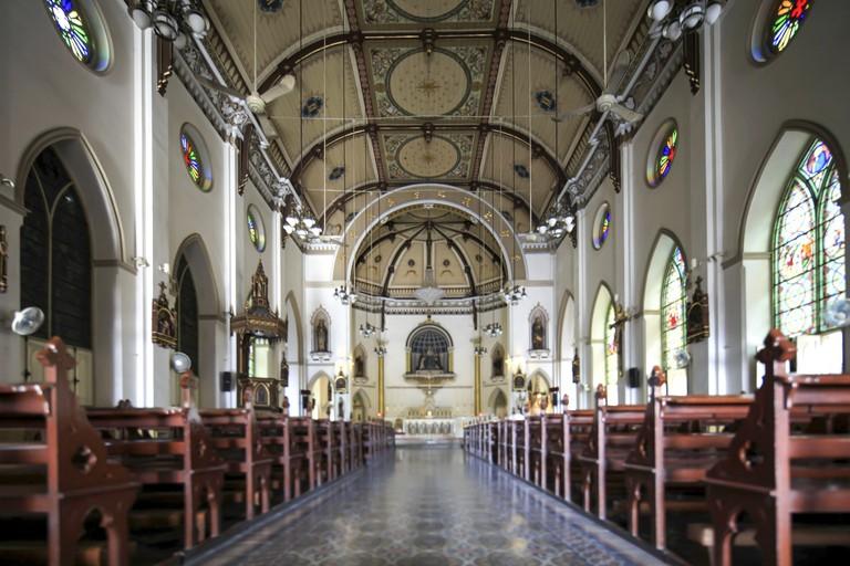 Inside of Holy Rosary Church