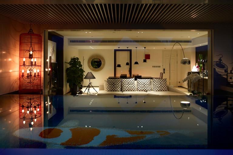 Some rooms feature private swim up pools, Hotel Eclat Beijing, Beijing