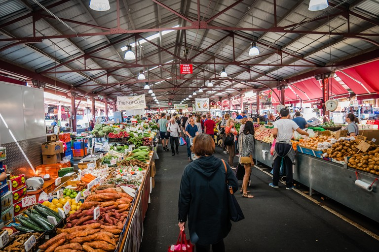 Melbourne Queen Victoria market, the largest open air market in Australia