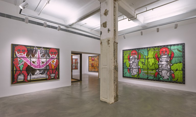 """Beardmoor"" by Gilbert and George at Lehmann Maupin, Hong Kong"