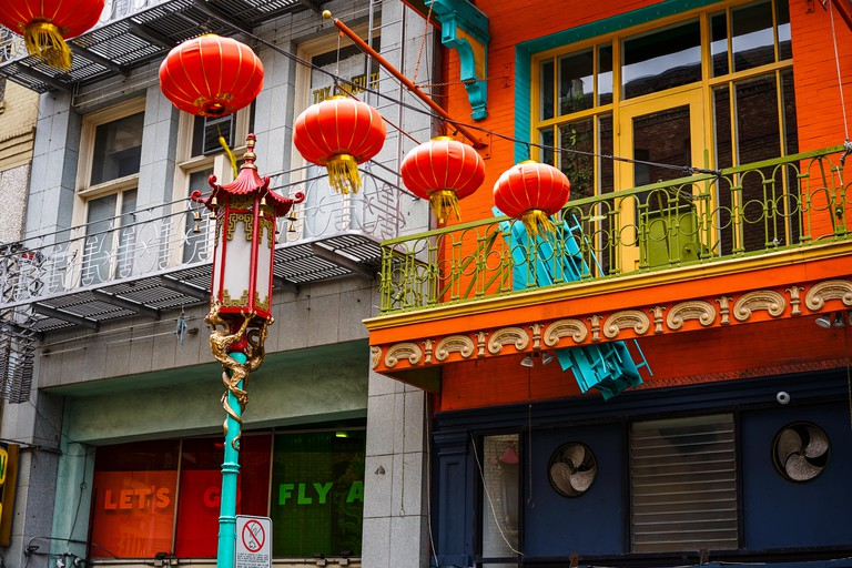 Chinese red lanterns in Chinatown, San Francisco.