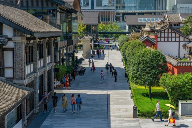 Taikoo Li, a popular shopping district, Chaoyang, Beijing