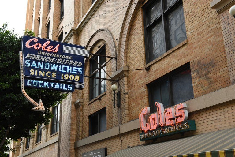 Coles a landmark saloon known for French dip sandwiches and classic cocktails