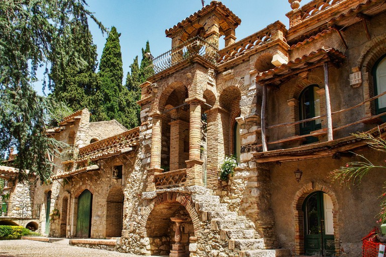 The Park Giardini della villa comunale in Taormina, Sicily, Italy