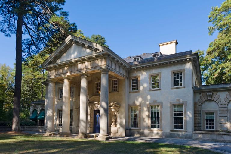 The Swan House, an early 20th Century Buckhead mansion now part of the Atlanta History Center, Buckhead, Atlanta, Georgia.
