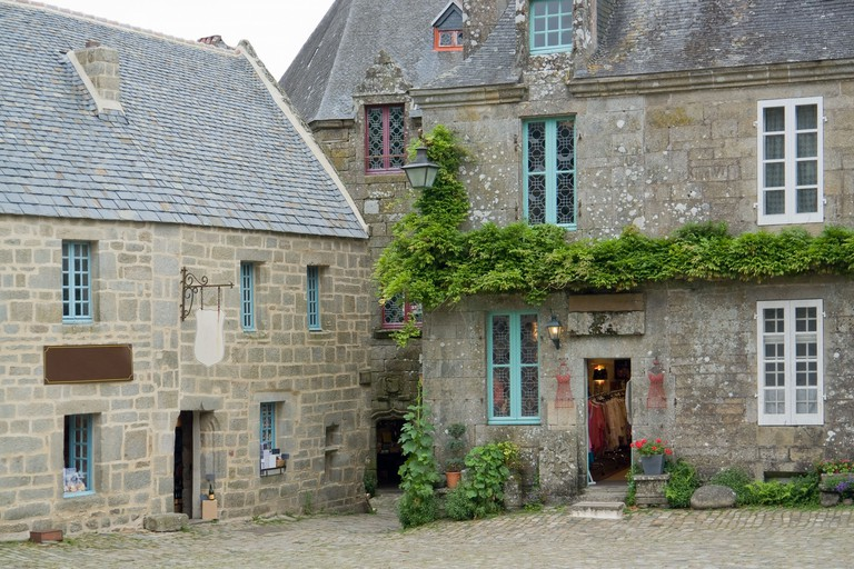 Locronan, a medieval village in Brittany, France. Locronan is one of the prettiest medieval villages in France