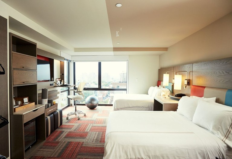 Each room at EVEN Hotel Brooklyn comes with a fitness zone