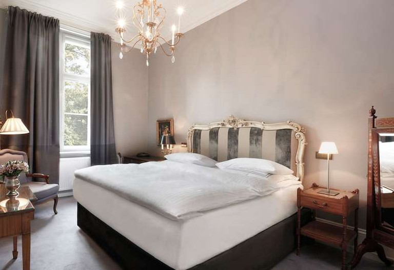 Guest room at Schlosshotel Grunewald