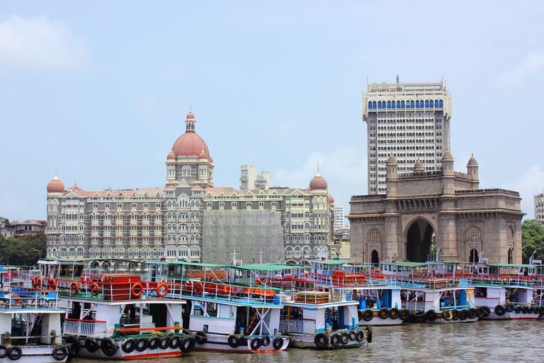 Gateway of India and Taj hotel in Mumbai, India