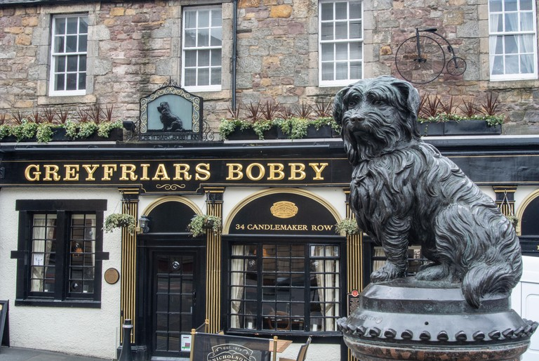 The statue of Greyfriars Bobby pays tribute to a special dog who never left his master's side