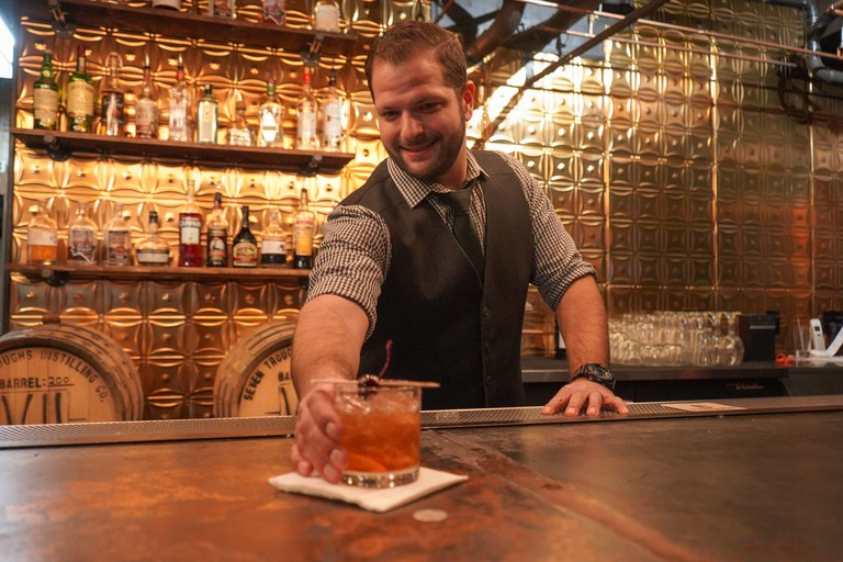 Seven Troughs Speakeasy serves craft cocktails in The Basement